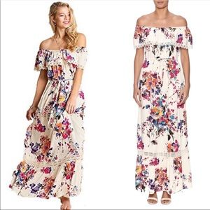 🔥1 hr SALE - Umgee floral maxi dress